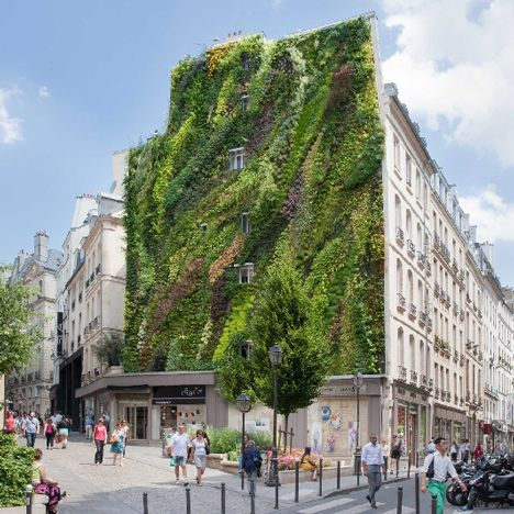 The Inventor Of Green Walls Patrick Blanc Has Created The Oasis Of Aboukir Green  Wall With Waves Of 7600 Plants, Unveiled At Paris Design Week.