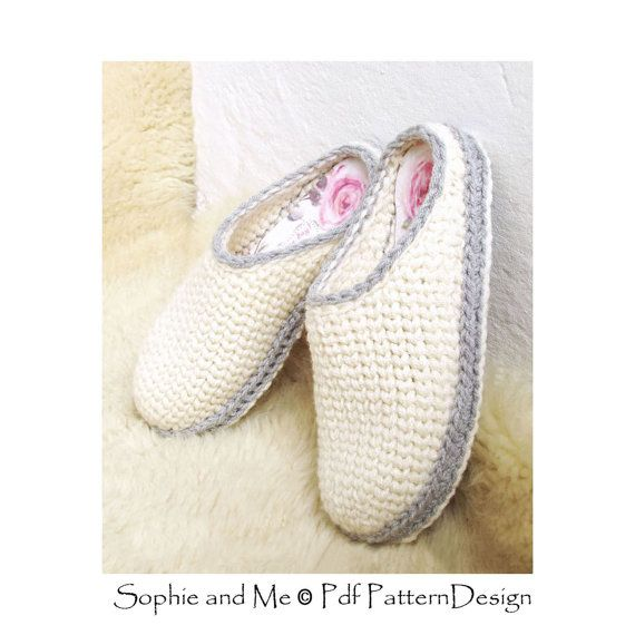 Crochet-Knit Slipper-Clogs - crochet pattern - Instant Download Pdf ...