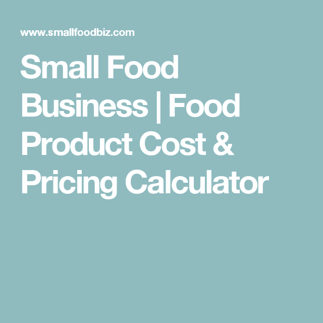 small food business food product cost pricing calculator tea