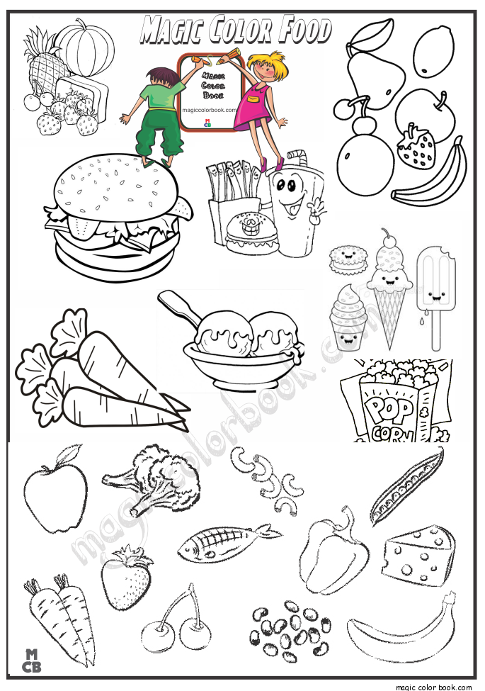 Food Archives Magic Color Book Food Coloring Pages Coloring Books Fruit Coloring Pages