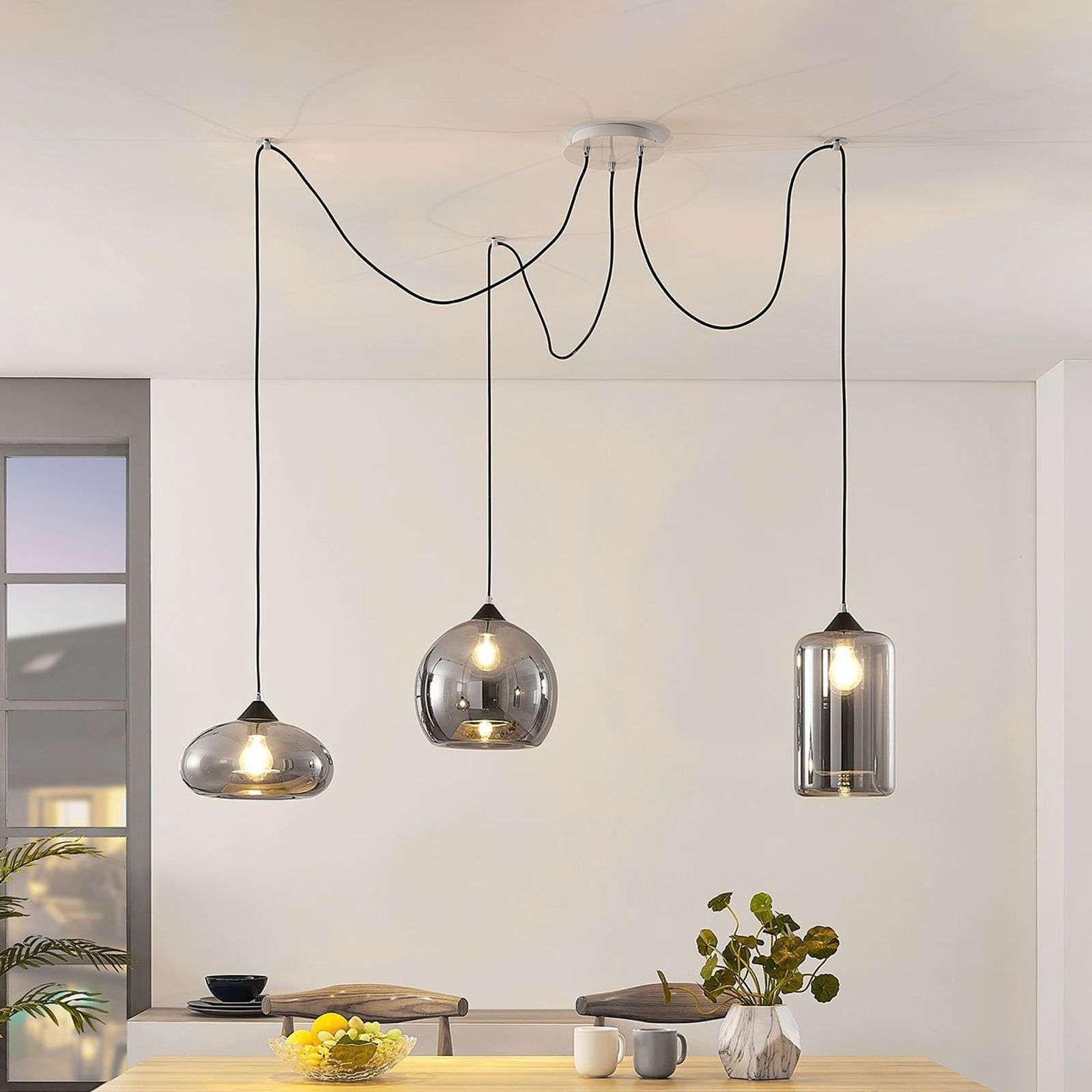 Hängeleuchte Küche Hängelampe Esstisch Glas Wohnzimmertisch Pendelleuchte Schwarz Pendel Kitchen Hanging Lamps Glass Table Living Room Glass Dining Table