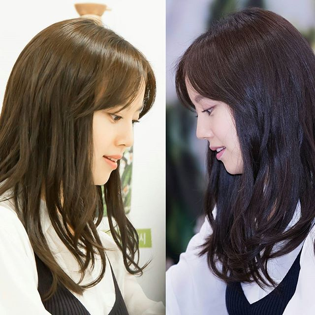 Side face(♡▽♡)😍 left pic cr @marribbong right pic cr mcwDC #문채원 #moonchaewon  #korean #namooactors #profile #sideface