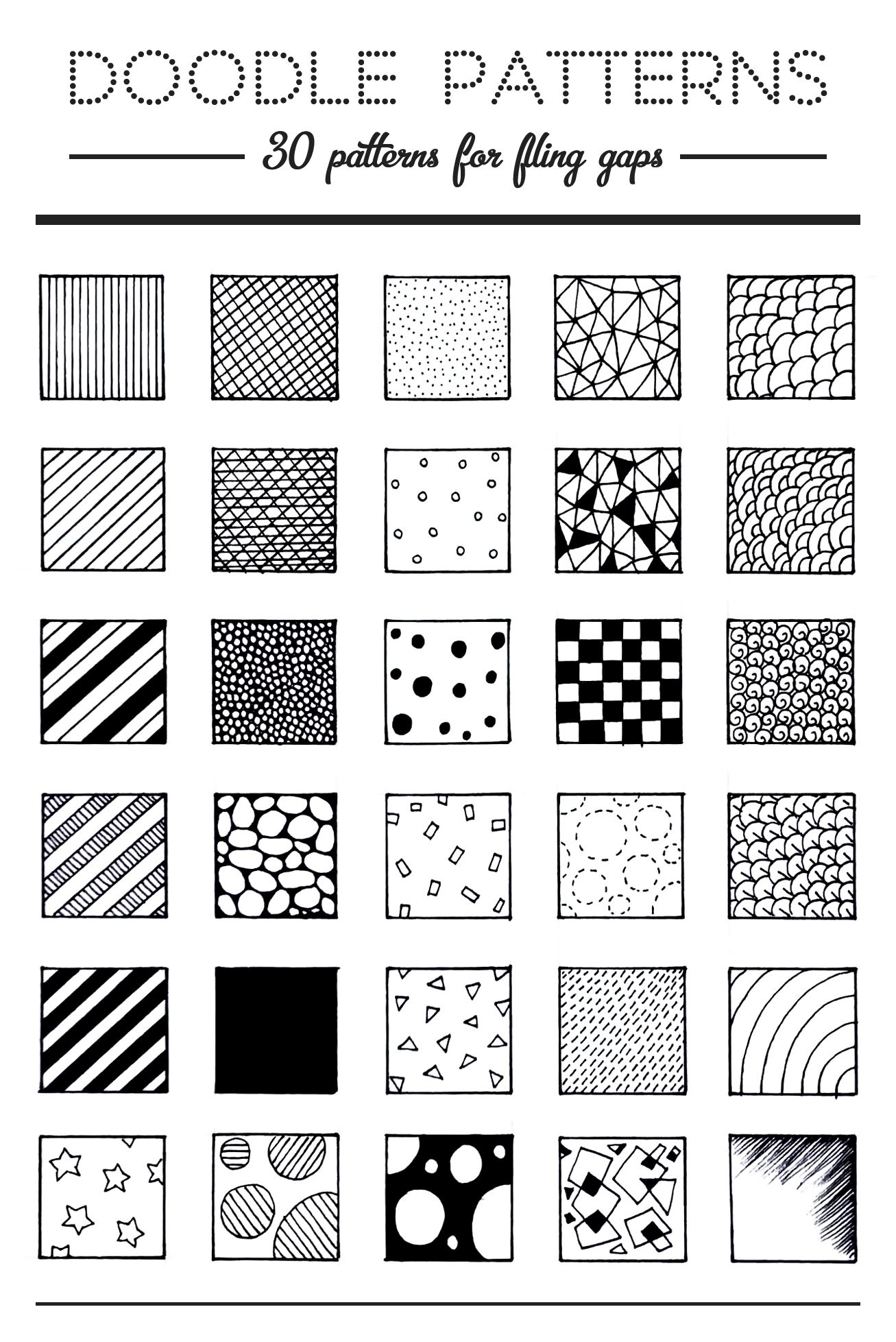 Pattern Doodle Interesting Design