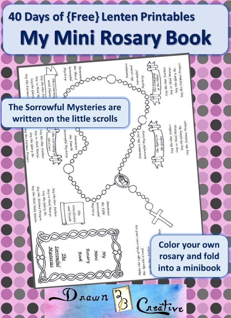 40 Days of Free Lenten Printables Sorrowful Mysteries