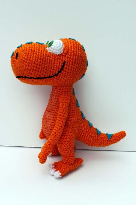 Crochet dinosaur Instant PDF Download dinosaur toy Dinosaur Crochet Pattern