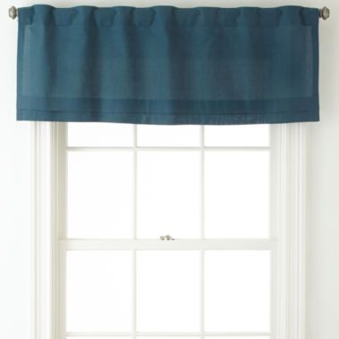 JCPenney Home™ Cotton Classics Rod Pocket/Back Tab Pleated Valance Found At