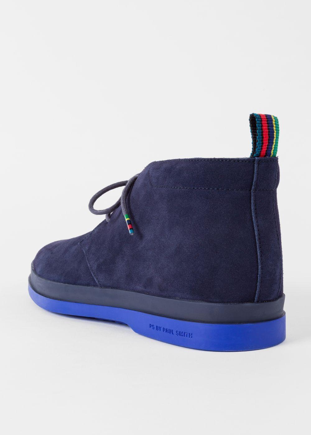 ba37b1b946f Men's Navy Suede 'Inkie' Chukka Boots | ayakkabı | Mens designer ...