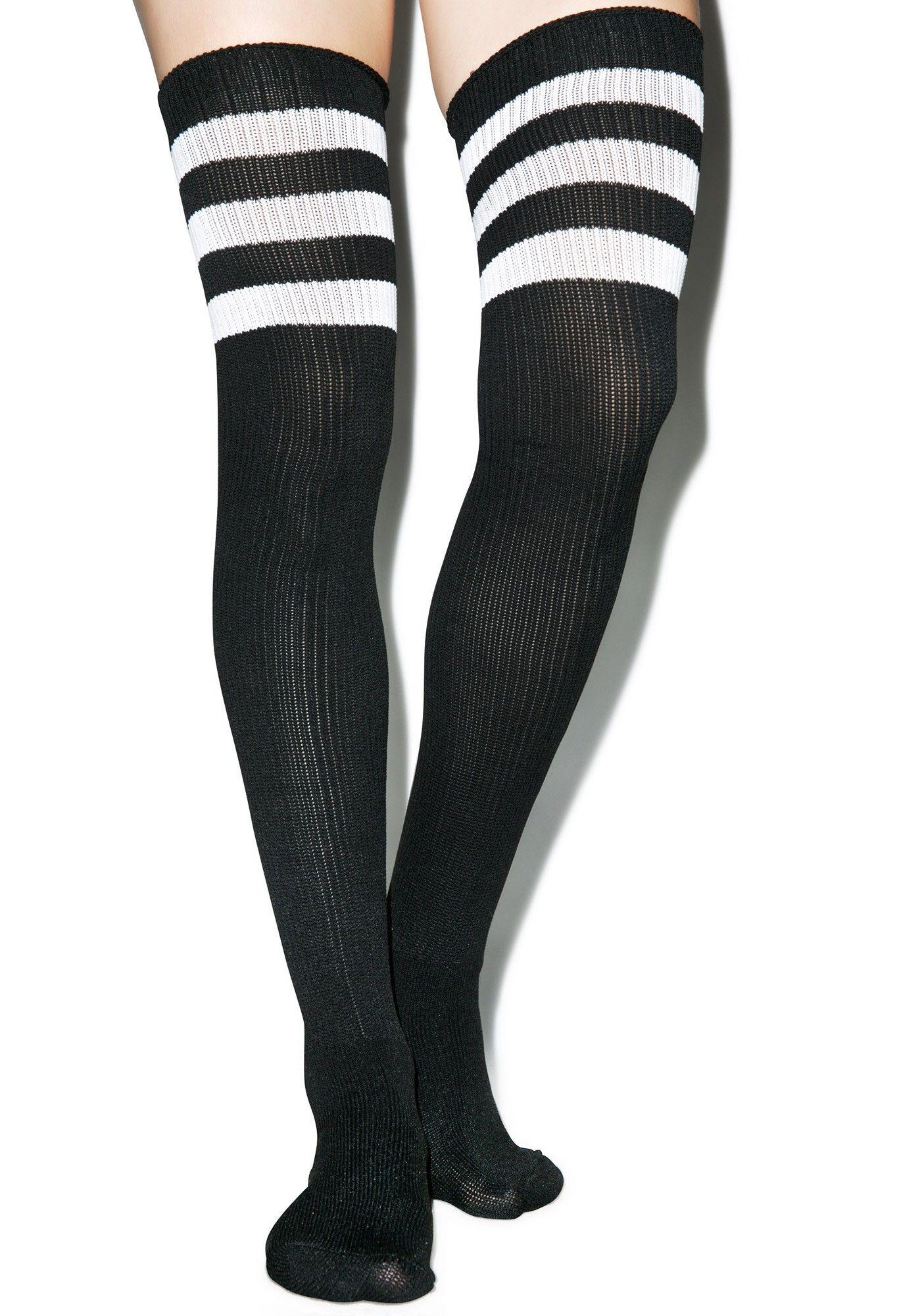 673e578318270 Scoring Big Athletic Thigh Highs | fashion | White thigh high socks ...