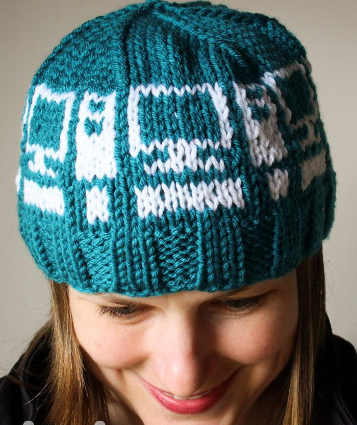 Free Knitting Pattern for Computer Hat - Beanie featuring computers ...