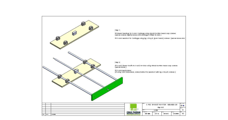 Cnc budget router plans diy engraving part assembly