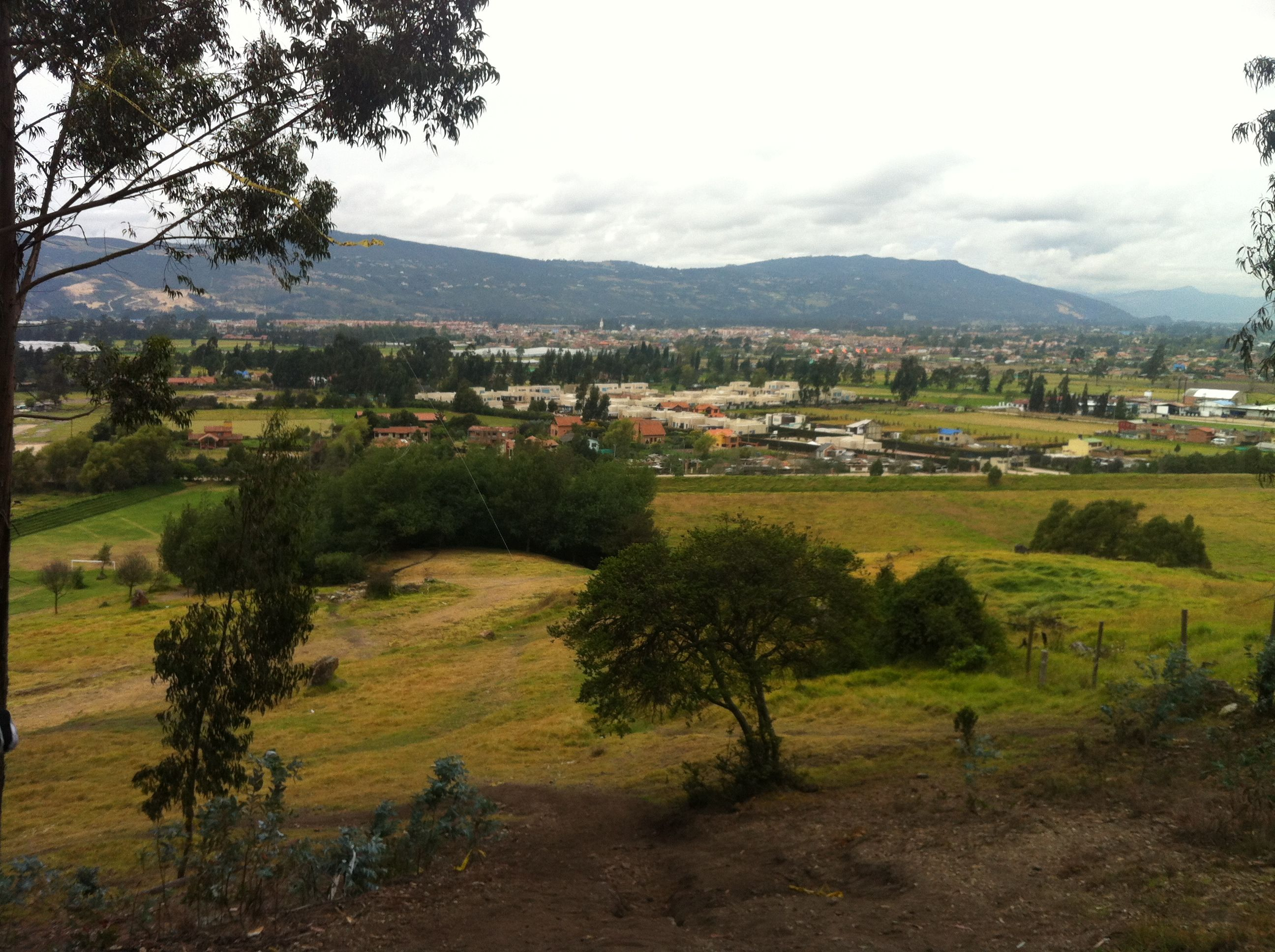 Vista desde la pista de mountain bike en Cajica