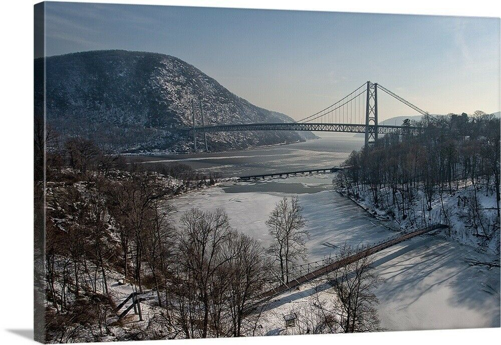 Solid Faced Canvas Print Wall Art Entitled Bear Mountain Bridge Mountain Canvas Ideas Of Mountain Canvas Mountain Canvas Art Bear Mountain Wall Art The Great Outdoors