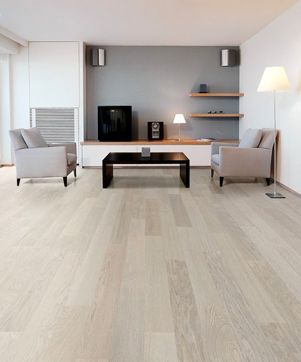 Modern Garage Floor Tiles Design With Grey Color Interior: Oak-Wood-Flooring-Interior-Design-Ideas-Parky-Lounge
