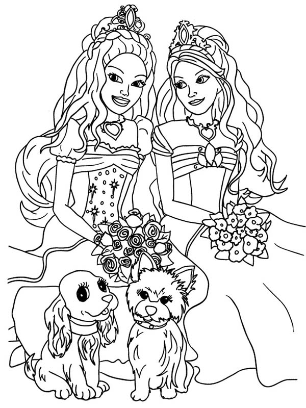Pin By Lindsey Herman On Barbie Doll Coloring Pages Barbie Coloring Pages Castle Coloring Page Puppy Coloring Pages