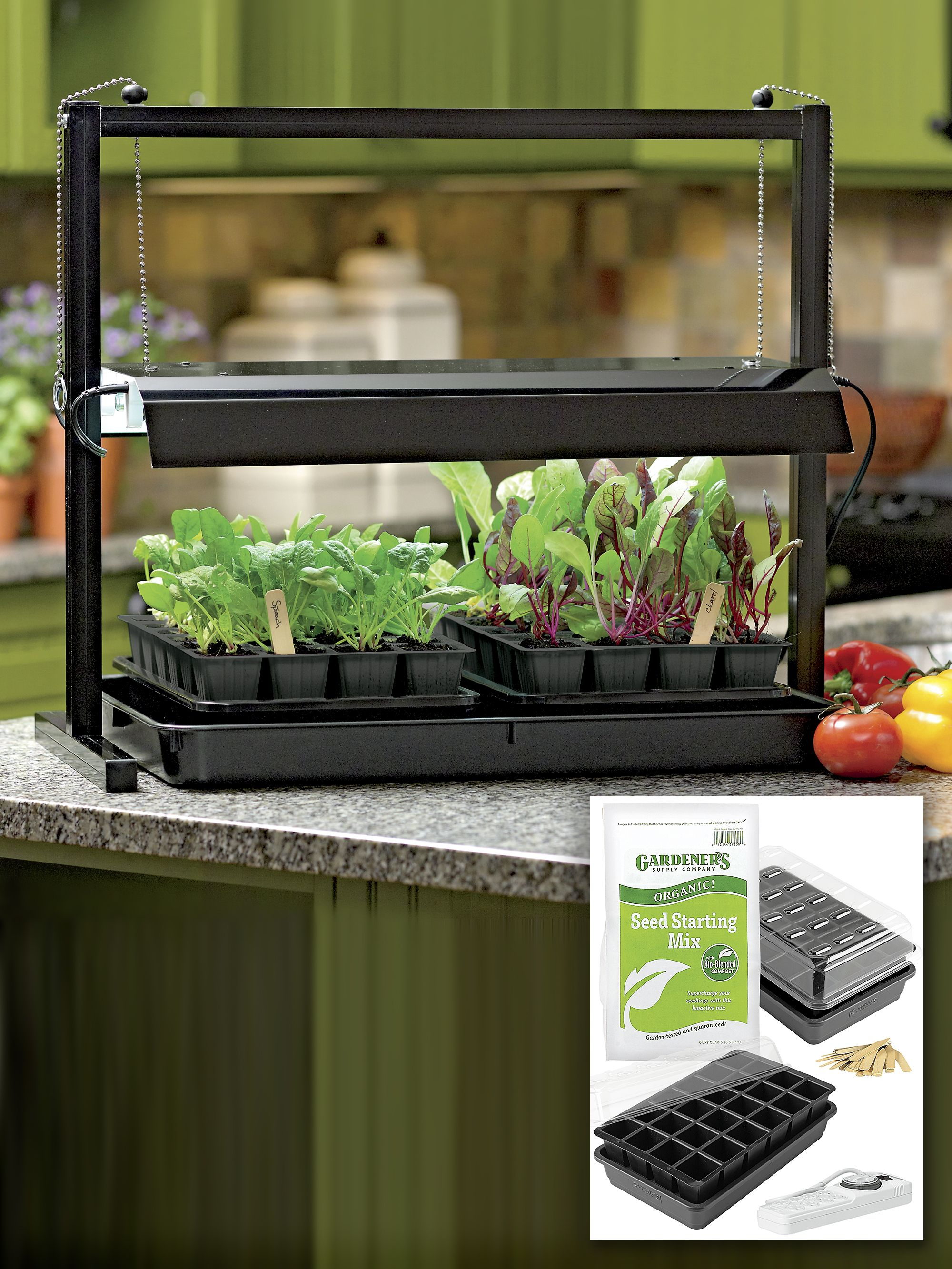Small Grow Lights And Tabletop Garden Starter Kit Seed Starting