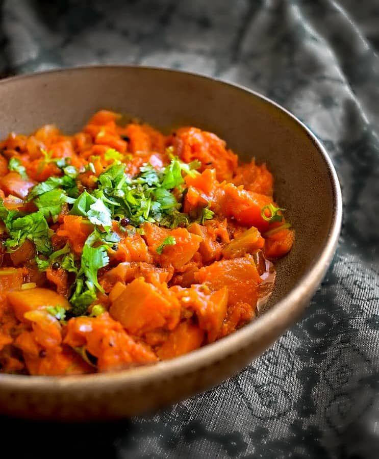 Pumpkin Masala Recipe Kaddu Ki Sabzi Vegangf