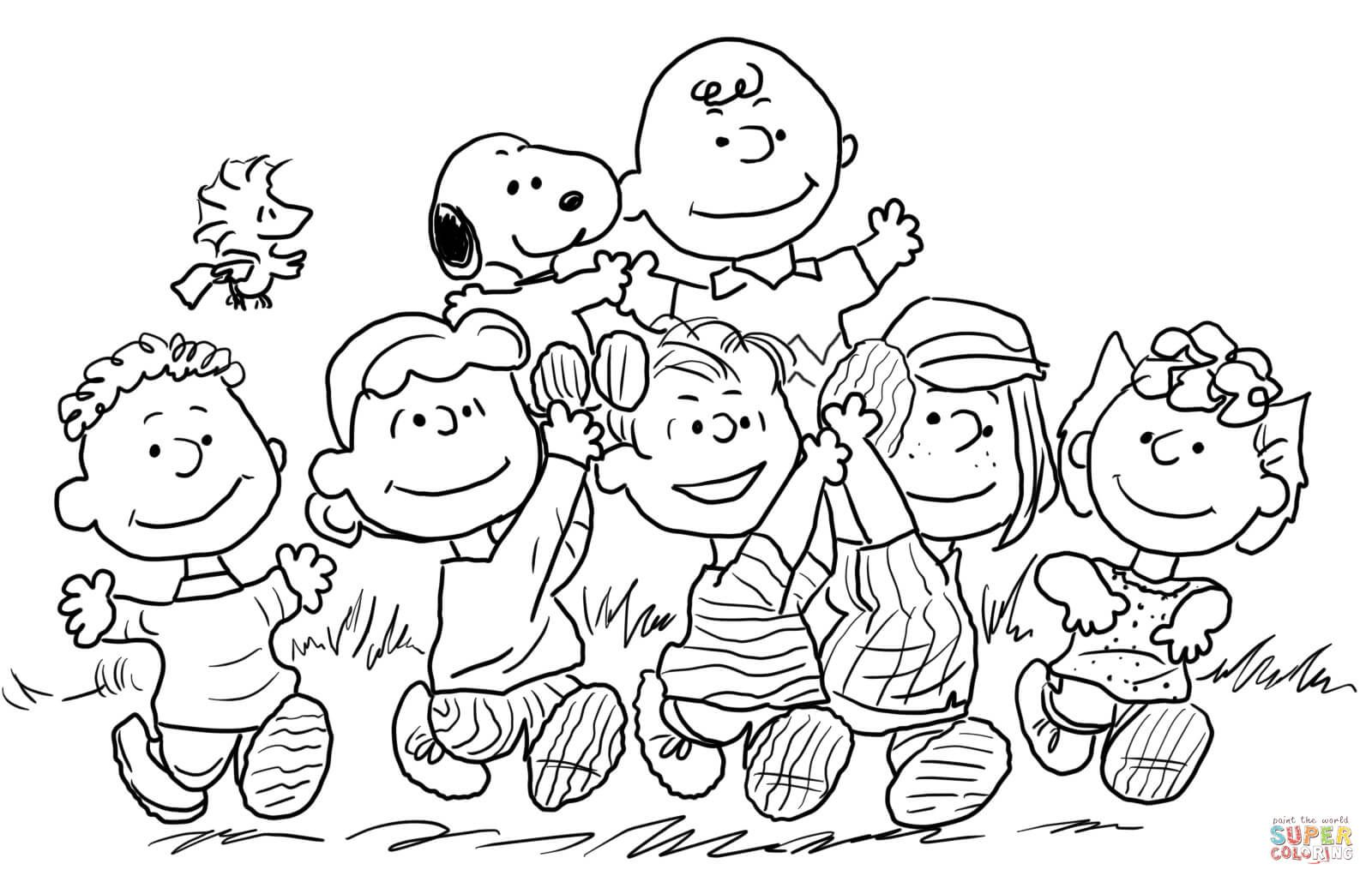 snoopy  the peanuts gang coloring page from peanuts