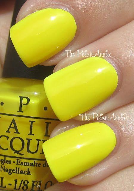 O.P.I. Nail Polish - Ridiculously Yellow | Nails ⭐ | Pinterest ...