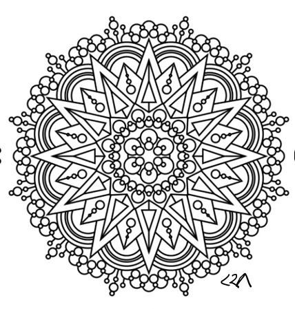Intricate Mandala Coloring Pages Flower Henna Coloring Book Kids