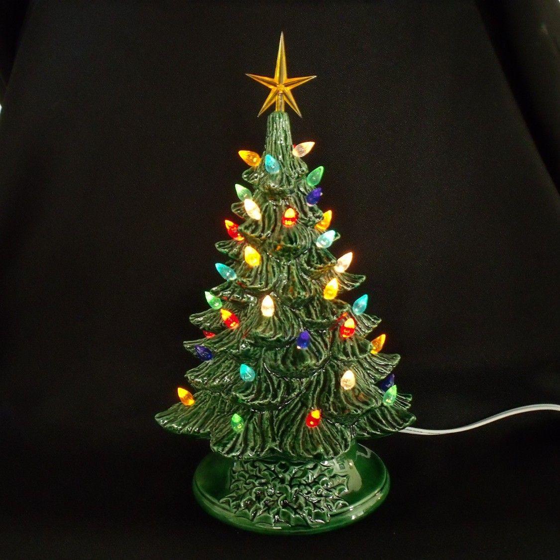 Vintage Style Ceramic Christmas Tree 11 Inches Vintage