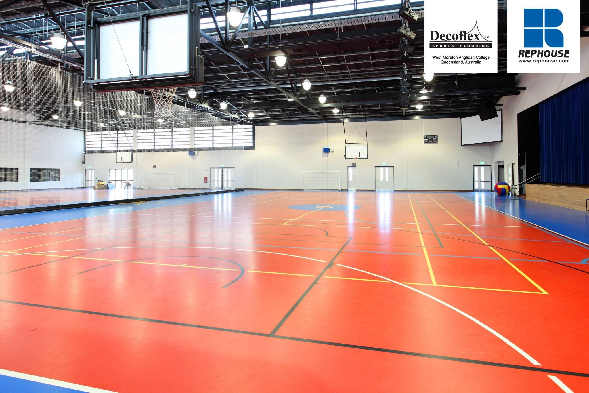 Decoflex Universal Seamless Polyurethane Indoor Sports Flooring West Moreton Anglican College Australia Indoor Sports Universal Indoor