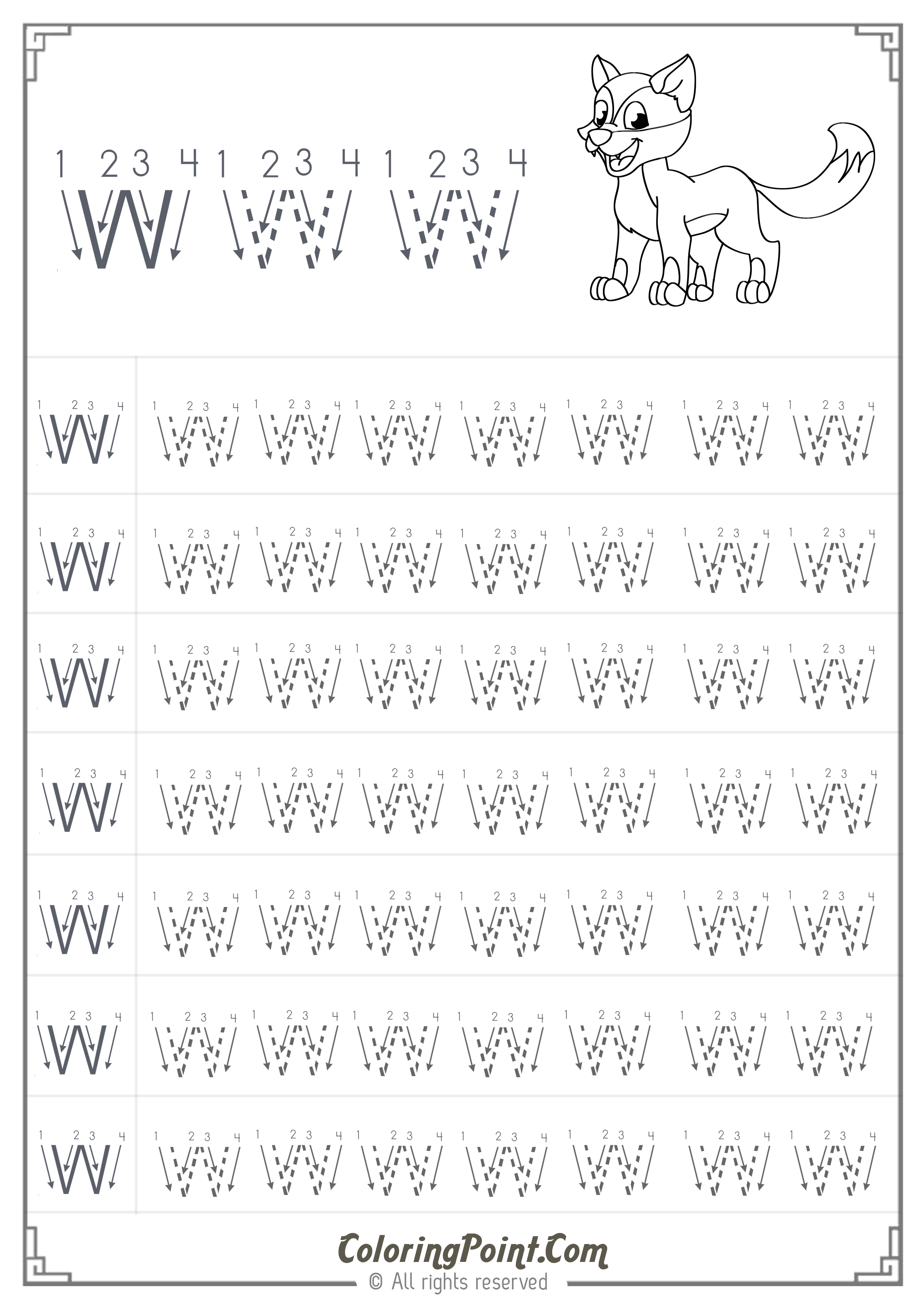 worksheet Preschool Free Worksheets free printable letter w tracing worksheets for preschool connect the dots alphabet worksheets