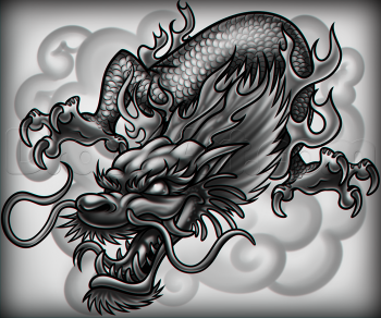 How to Draw a Chinese Dragon Tattoo, Step by Step, Tattoos