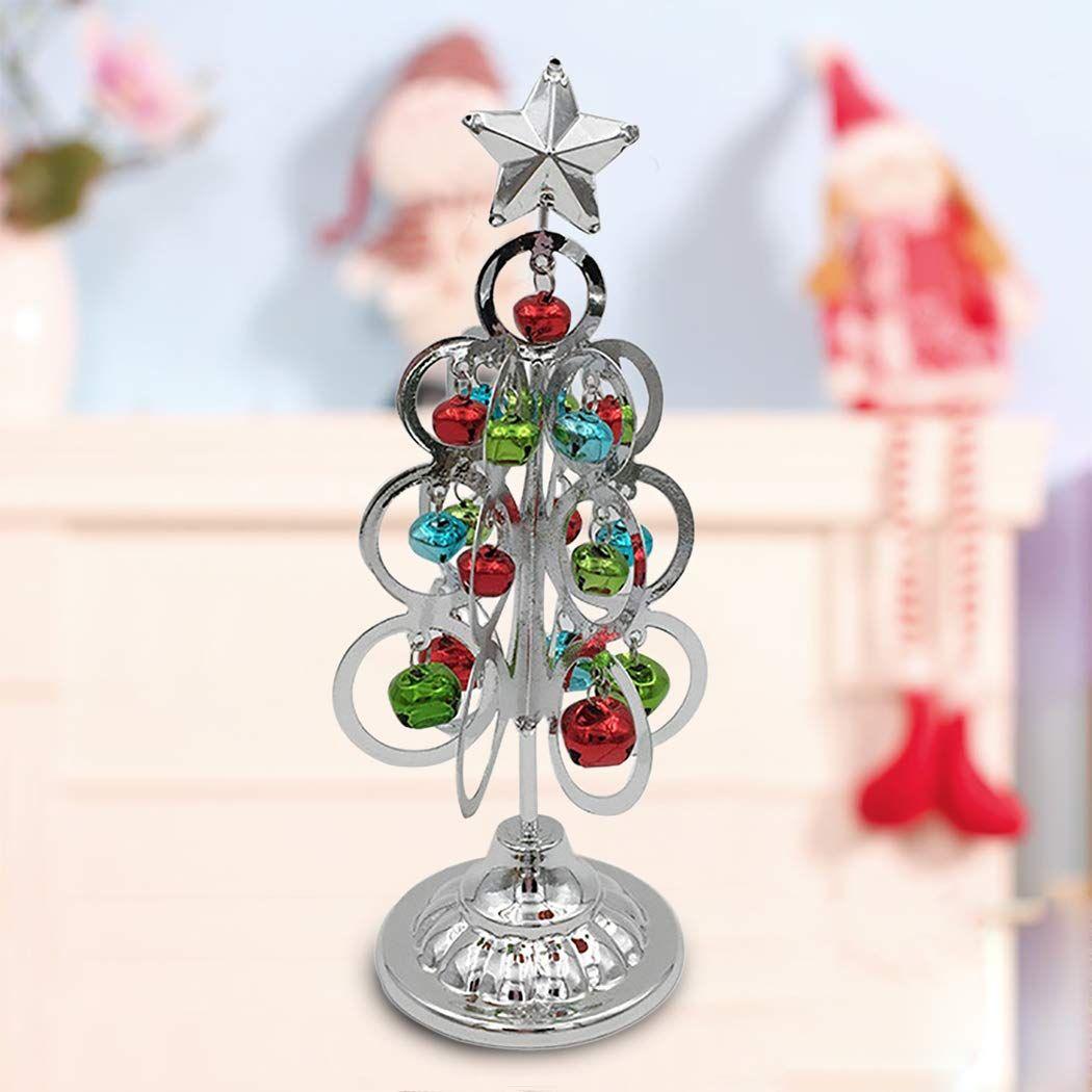 Justdolife Mini Christmas Tree Xmas Tree Artificial Star Bell Decor Tabletop Ornament Xmas Ornament For More I Mini Christmas Tree Xmas Ornaments Xmas Tree
