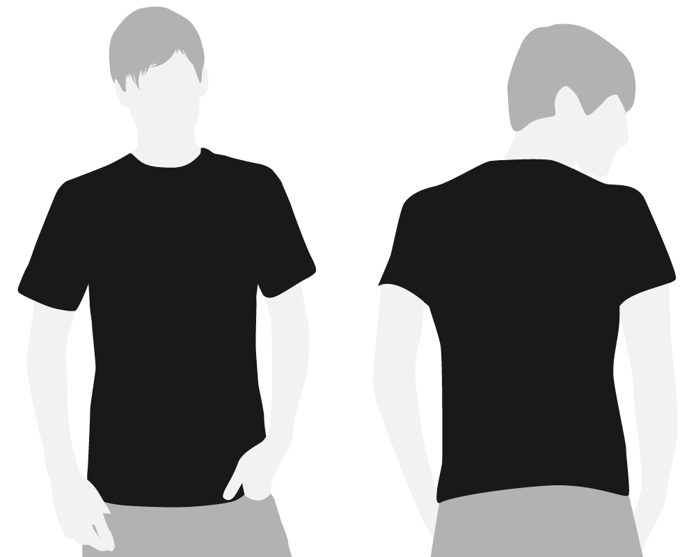 Black Shirt Front And Back Model Google Search Blue Noise
