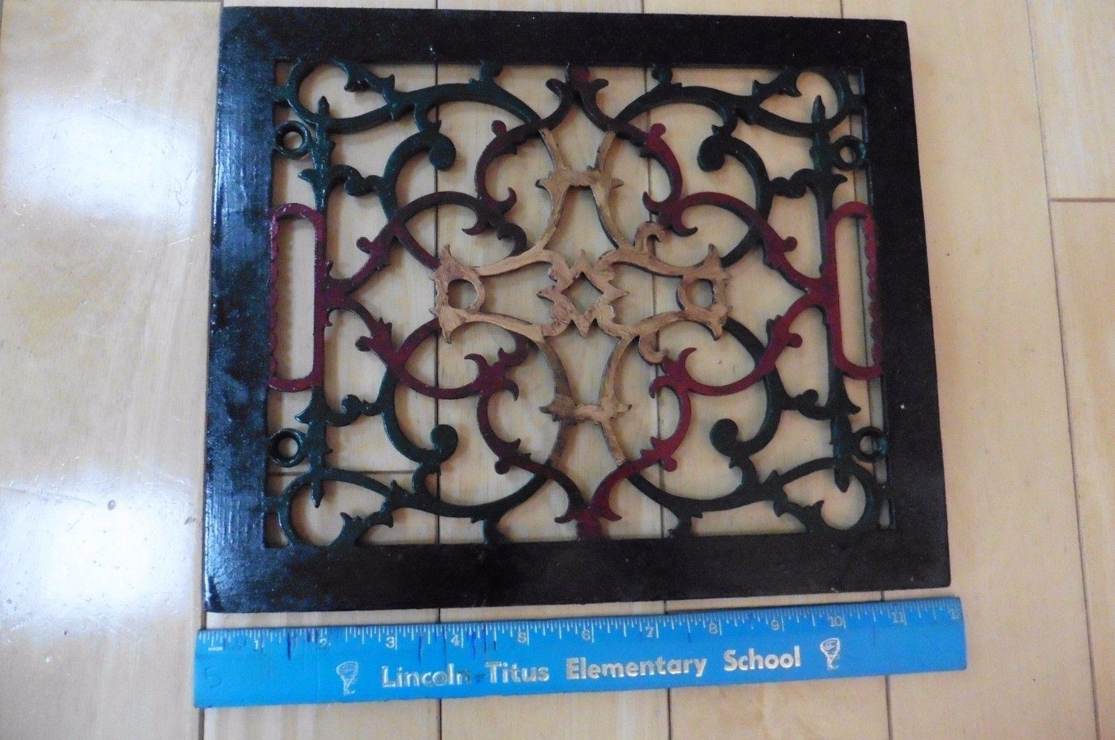 Cast Iron Floor Register 2 X 12 Designer Air Vent Register Kitchen Decor 53 00 Painted Floor Vent Registers Cast Iron
