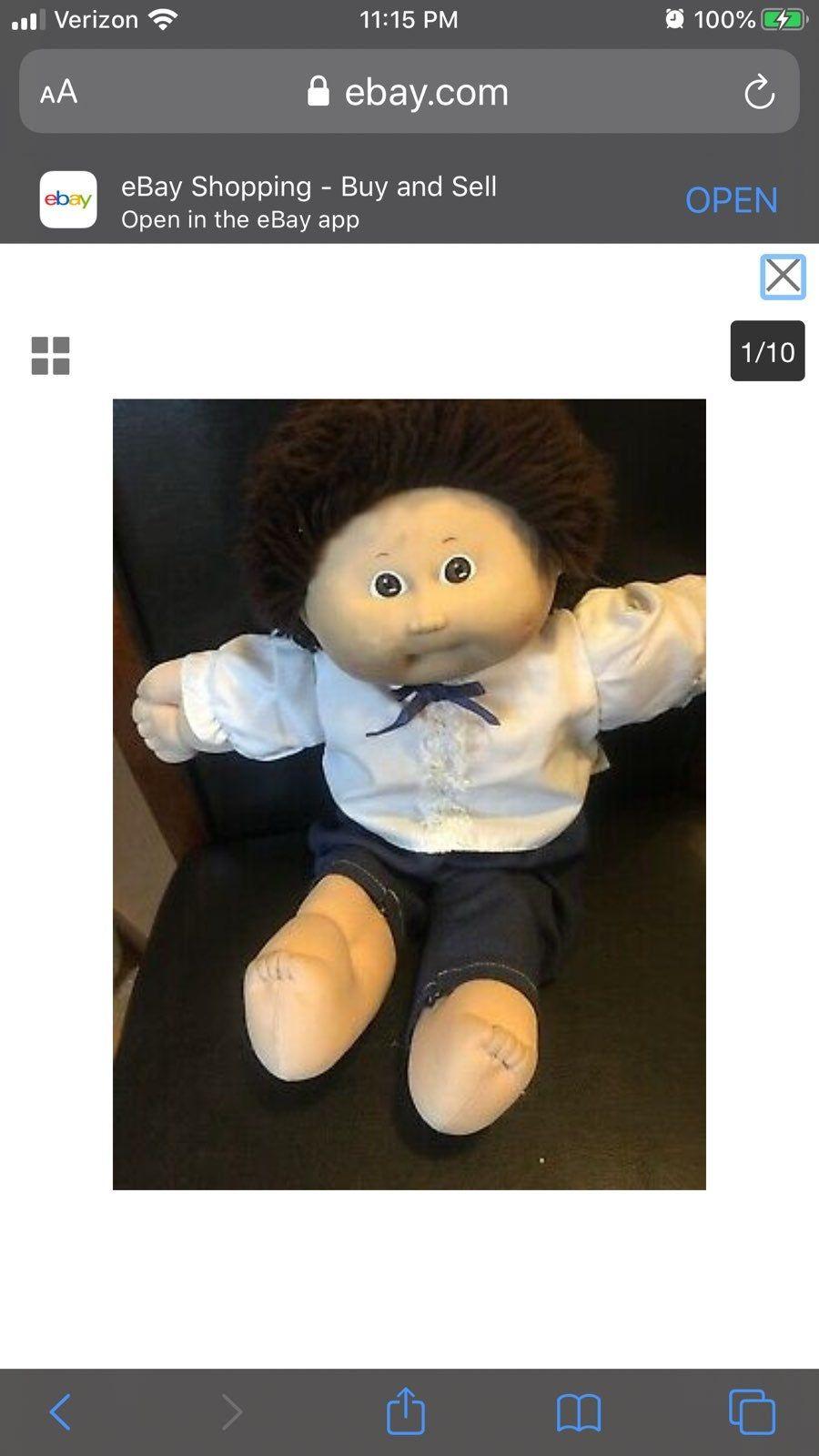 1983 Cabbage Patch Kids Boy Doll Brown Hair Brown Eyes Pre Cabbage Patch Kids Boy Cabbage Patch Kids Dolls Patch Kids