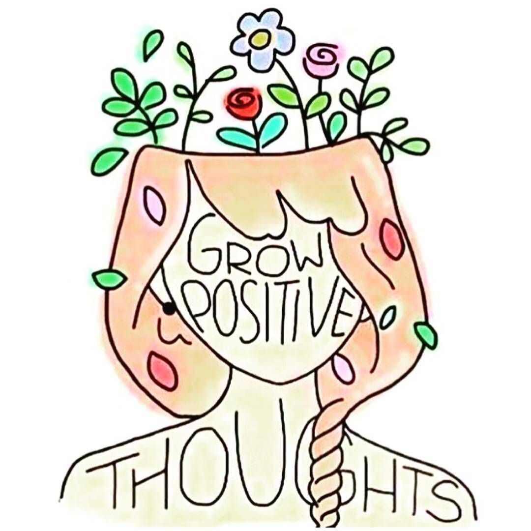 Grow Positive Thoughts Hoodxhippie With Images Doodle Quotes