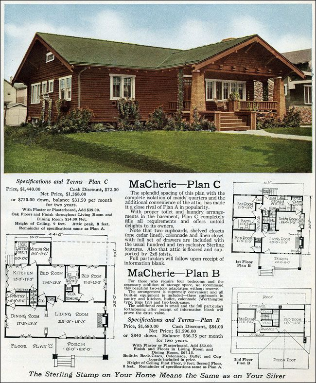 Pin By Craftsman Junky On House Exteriors Early 1900s Craftsman Bungalows Vintage House Plans House Plans