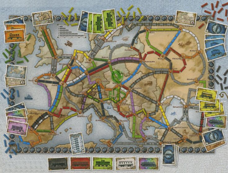 Ticket To Ride Europe Is A Map Based Board Game Set In 1900 Where