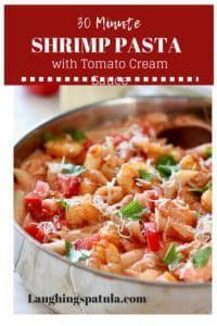 Shrimp Pasta in Tomato Cream Sauce #tomatocreamsauces Shrimp Pasta in Tomato Cream Sauce | Laughing Spatula #tomatocreamsauces