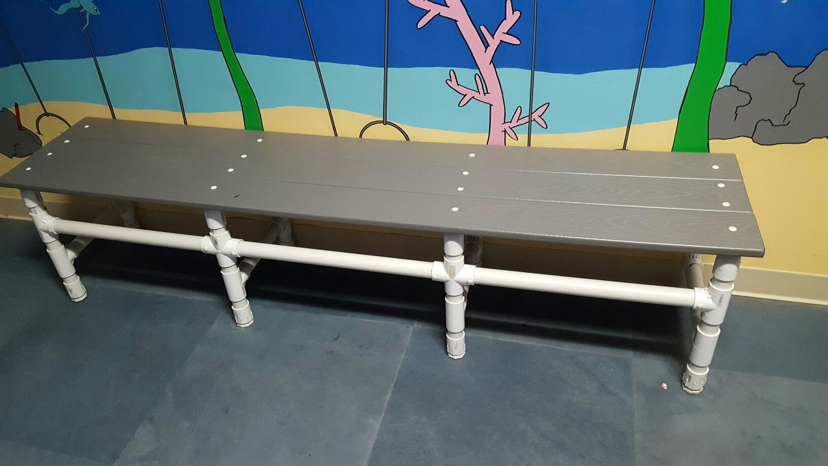 Pool Bench With Pvc And Composite Decking Pvc Projects