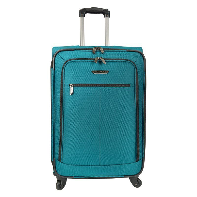 Travelers Choice 27 in. Medium Lightweight Expandable Spinner Luggage Peacock Green - TC08010E24