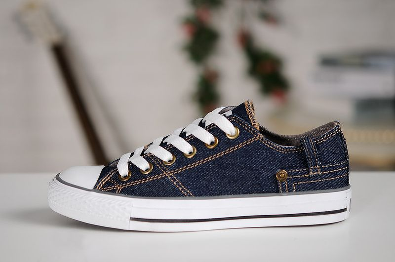 6cbc04a05210  converse Converse Dark Blue Low Tops Classic Chuck Taylor All Star Womens  Shoes