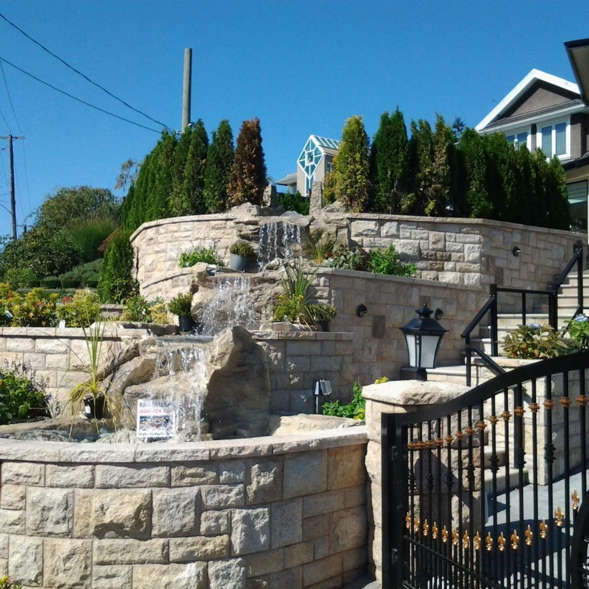 Rocky Waterfall Custom Artificial Rock Waterfalls Vancouver Bc Canada Small Backyard How To Build A With Rocks