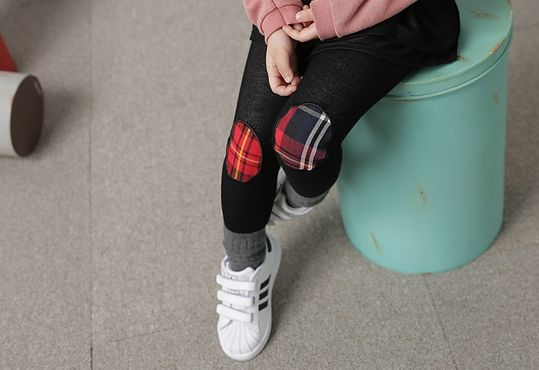 Korea children's No.1 Shopping Mall. EASY & LOVELY STYLE [COOKIE HOUSE] Check Patch Skirt leggings / Size : 7-19 / Price : 20.10 USD #cute #koreakids #kids #kidsfashion #adorable #COOKIEHOUSE #OOTD #leggings #patch