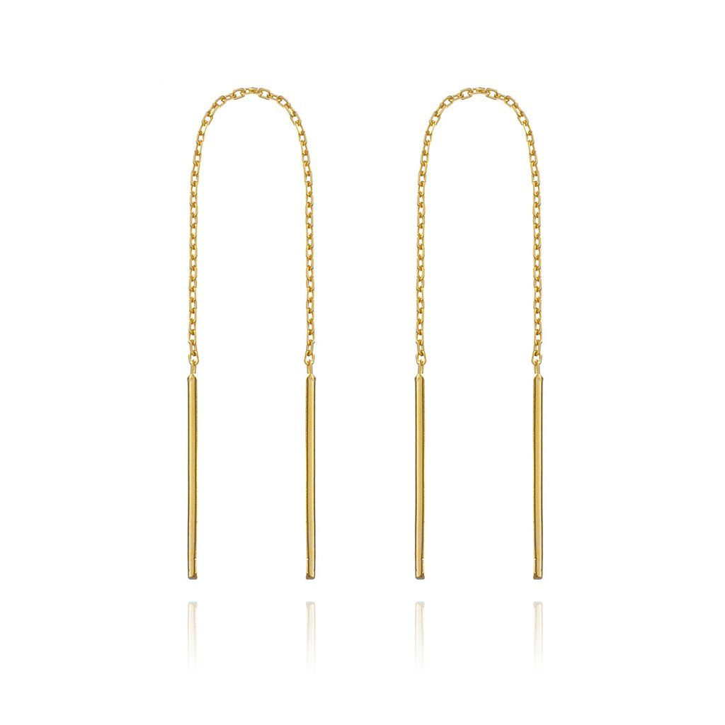 plating ferro gold front earrings products white ipg back hanging rod stainless steel