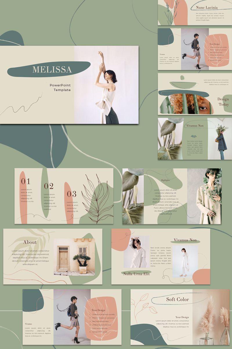 Melissa Powerpoint Template 87405 Ad Powerpoint Template Melissa In 2020 Portfolio Design Layouts Bookletgestaltung Designvorlagen