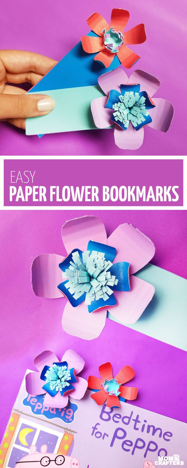Make These Easy Paper Flower Bookmarks Pinterest Easy Paper