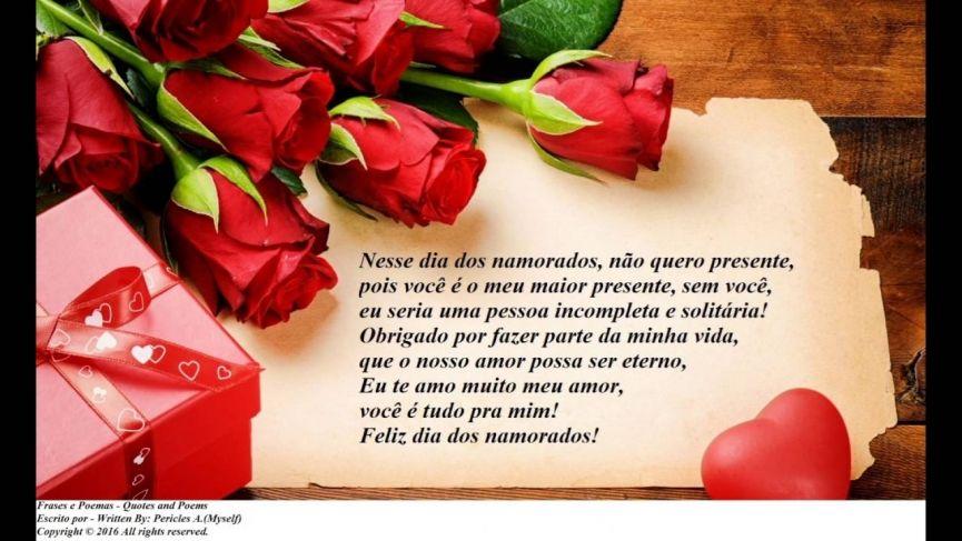 Frases Para Dia Dos Namorados 2017 Mensagens E Frases Curtas