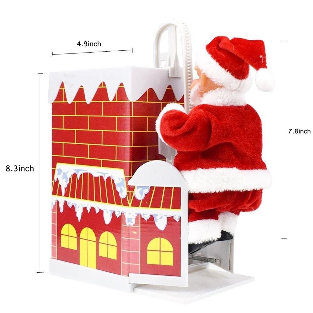 Santa Claus Climb Chimney And Sing Christmas Songs