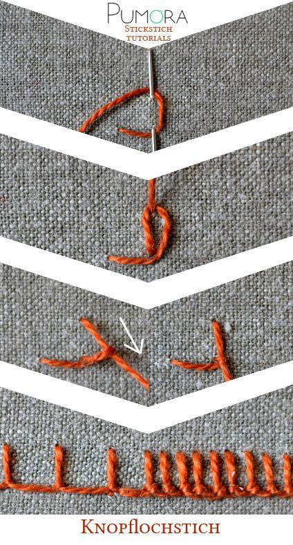 der knopflochstich pumora deutsch pinterest n hen stickerei und h keln. Black Bedroom Furniture Sets. Home Design Ideas