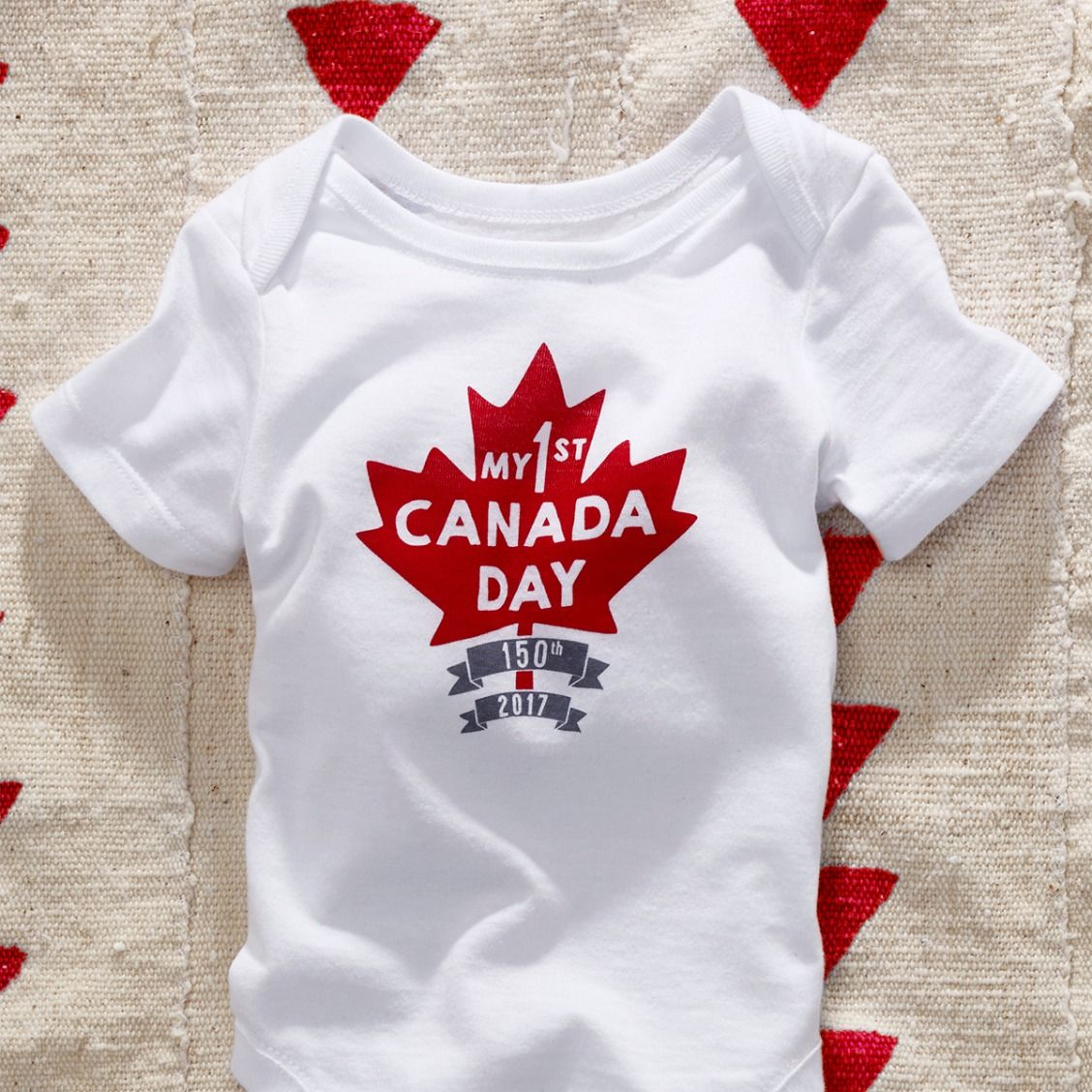 Baby Fashion Baby Clothes Canada Day Graphic Bodysuit The