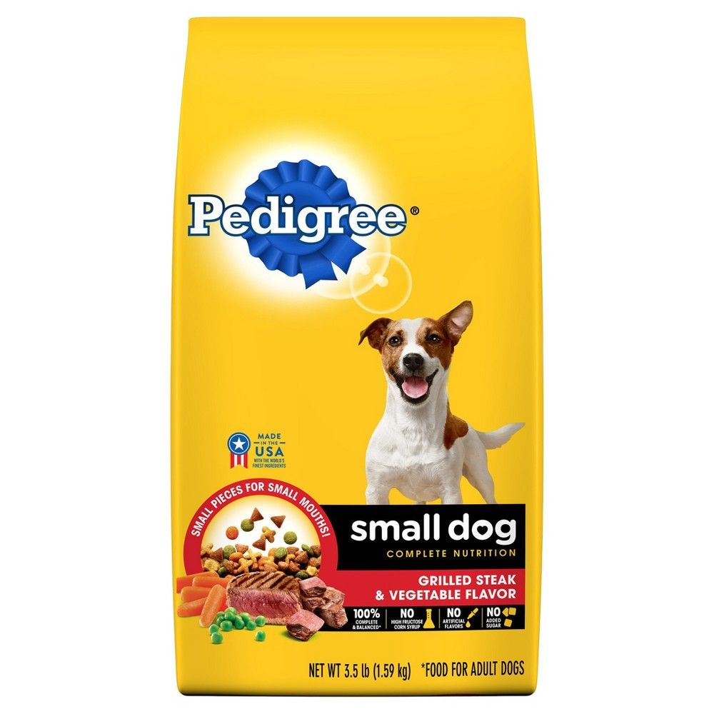 Pedigree Small Dog Grilled Steak And Vegetable Dry Dog Food
