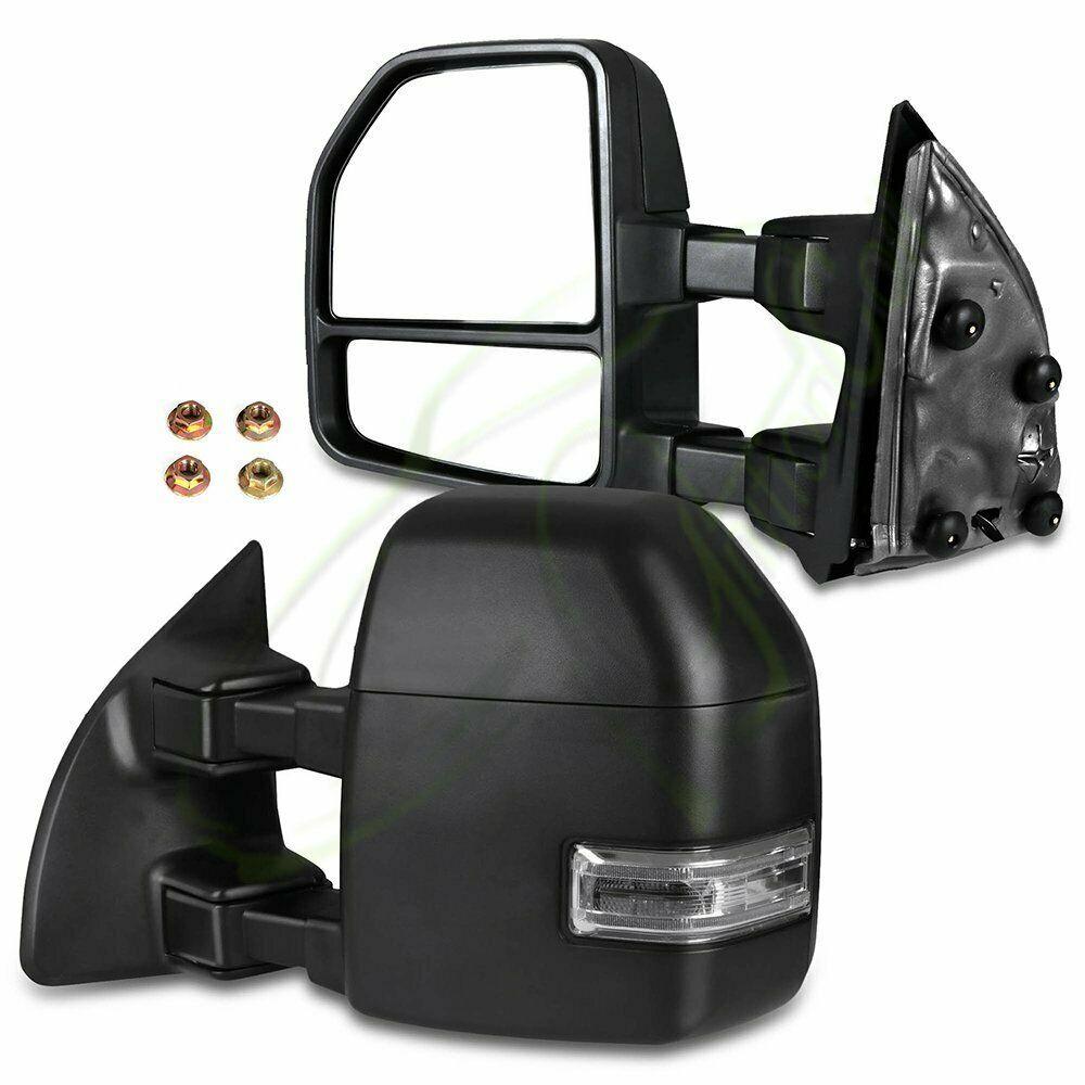 Sponsored Ebay Tow Side Mirrors Manual Led Turn Signal Black Fits 1999 2007 Ford F250 Ford F250 F250 Side Mirror
