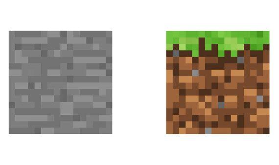 Stone Block Sprite : Minecraft stone and grass blocks vinyl wall by